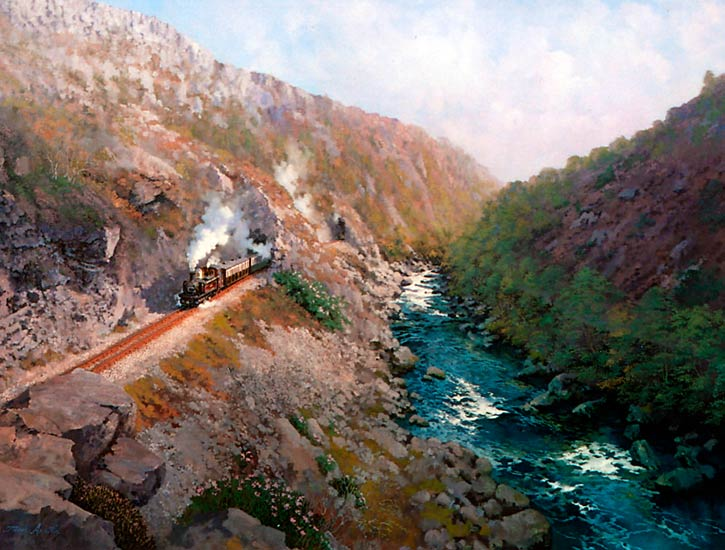 Painting of The Aberglaslyn Pass