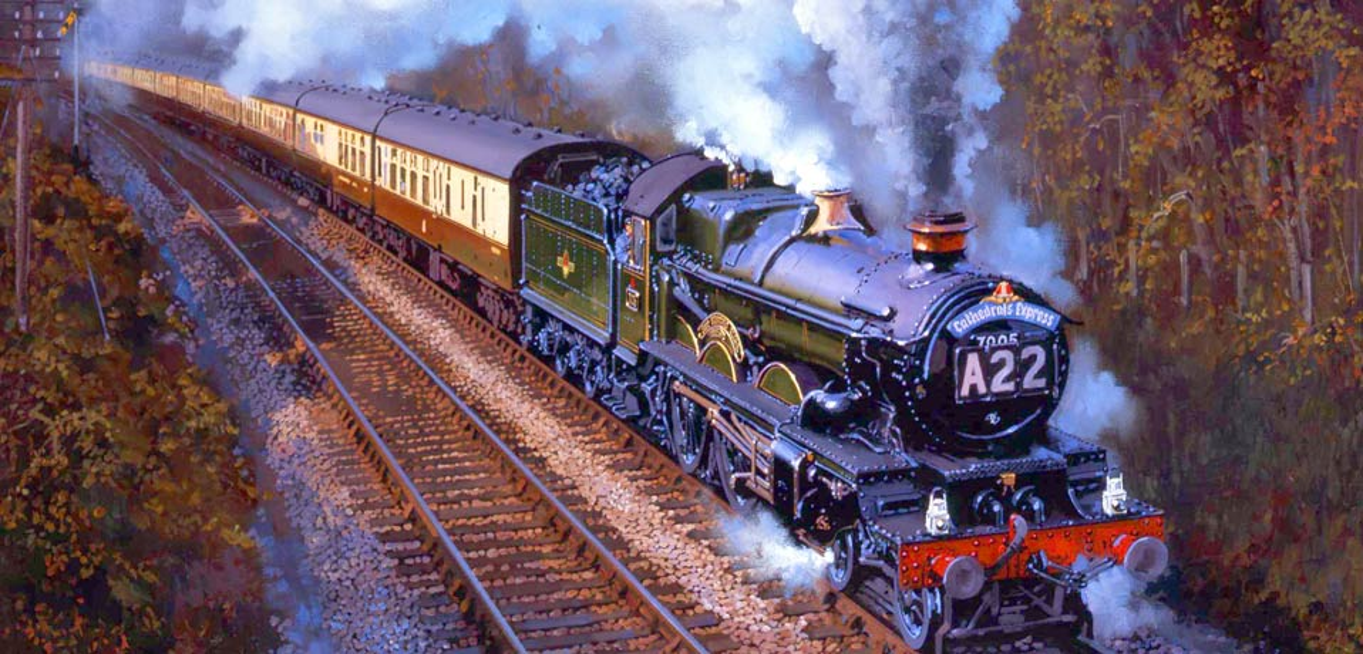 Artist John Austin Fellow Of The Guild Of Railway Artists