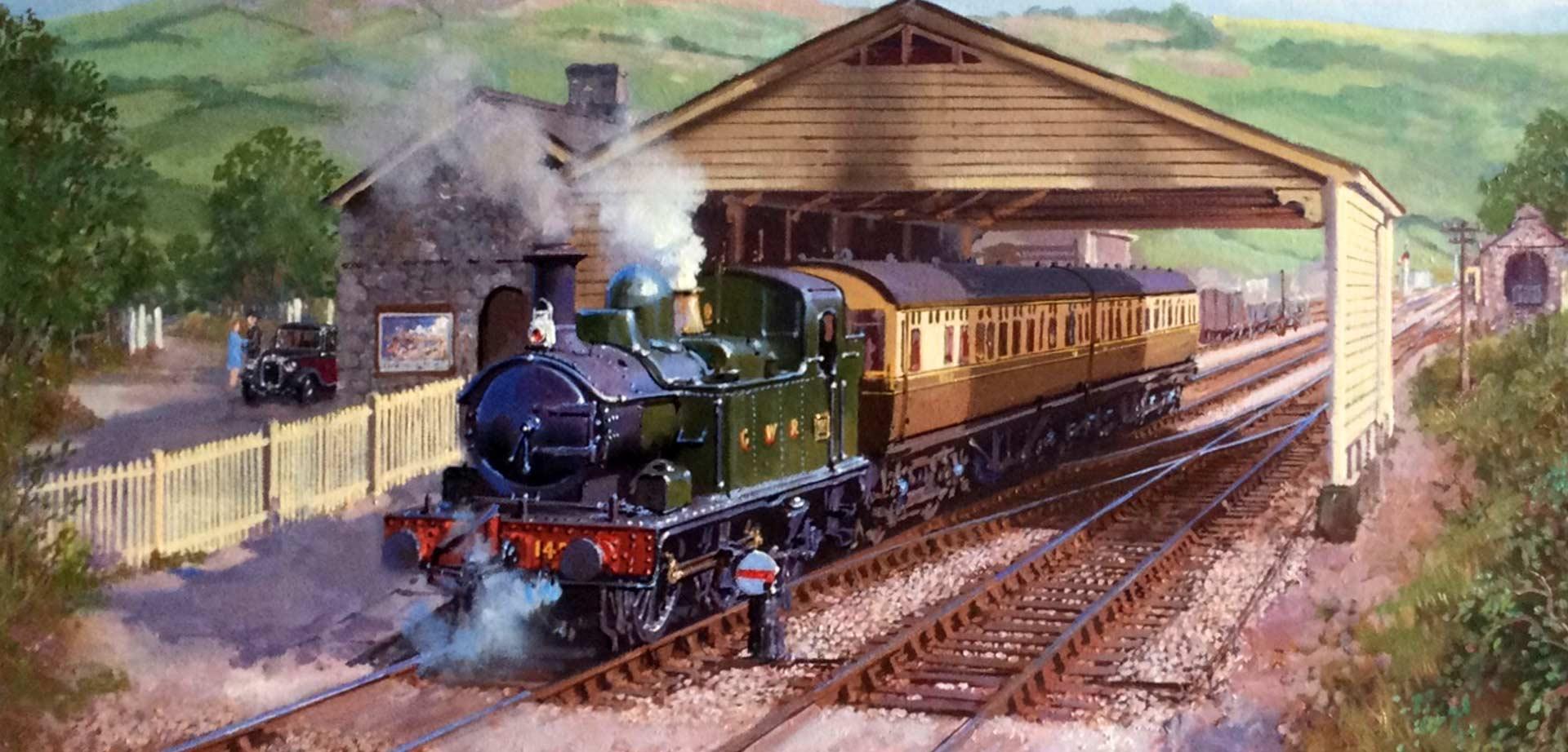 East Coast Diesel >> Artist John Austin - Fellow of the Guild of Railway Artists